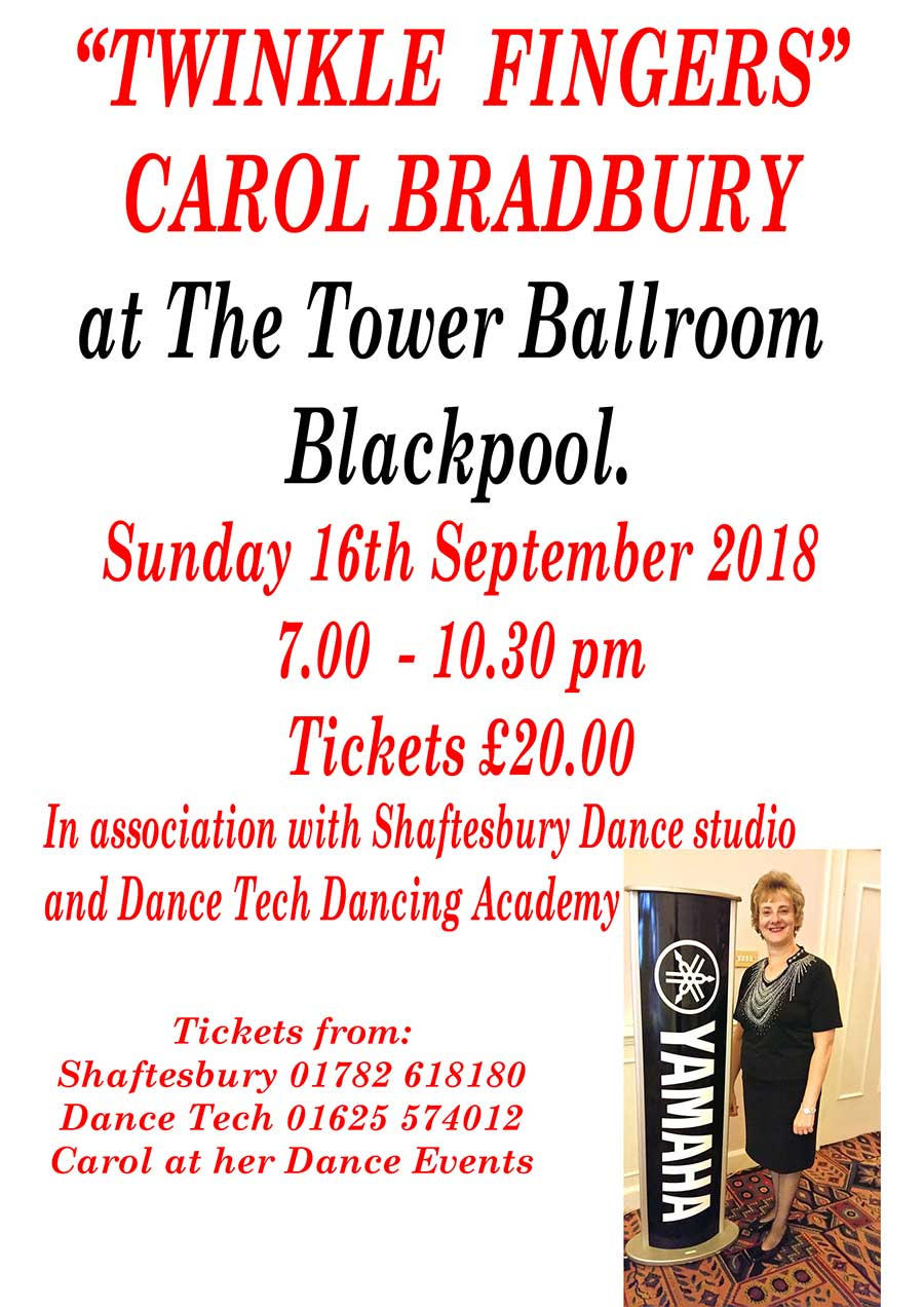 Carol Bradbury at The Tower Ballroom, Blackpool
