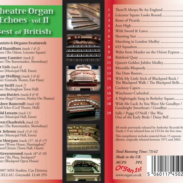 Theatre Organ Echoes 2 - Best of British (Inlay)