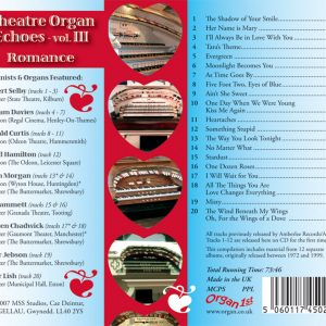 Theatre Organ Echoes 3 - Romance (Inlay)