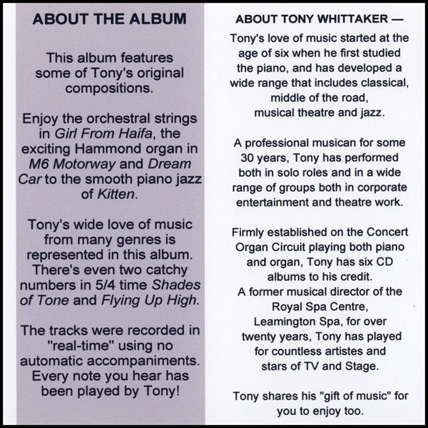 Tony Whittaker - Compose Yourself! (Info)