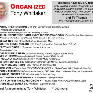 Tony Whittaker - Organ-Ized (Inlay)