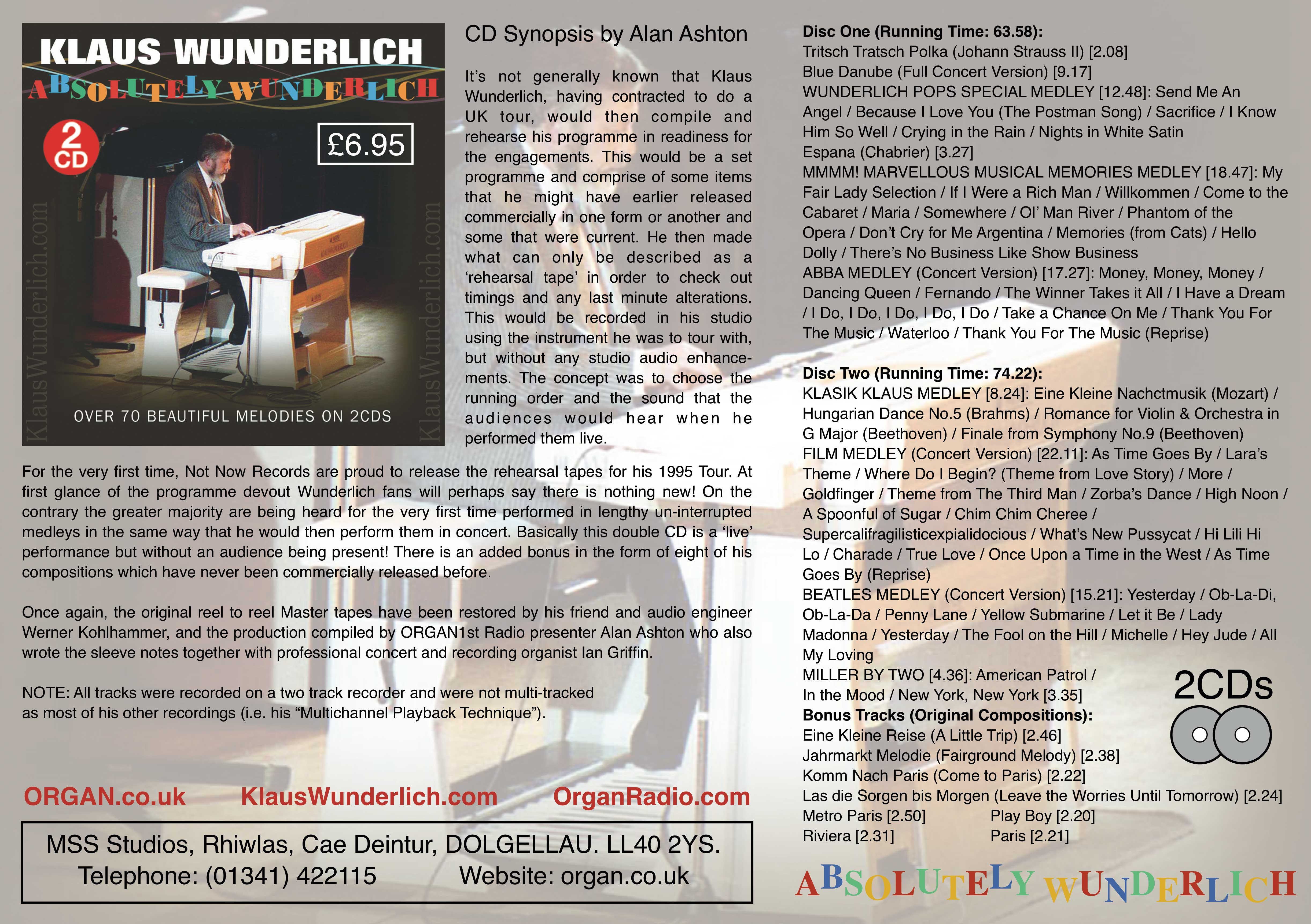 Klaus Wunderlich - Absolutely Wunderlich (Promotional Flyer)