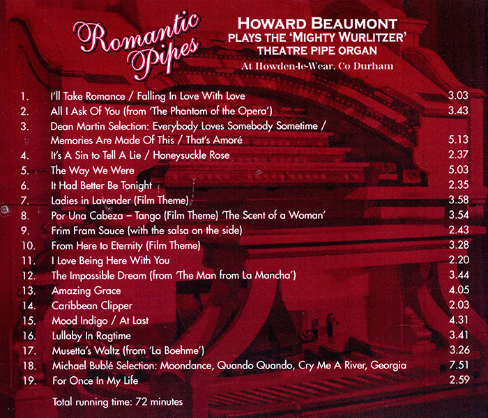 Howard Beaumont - Romantic Pipes (Back)