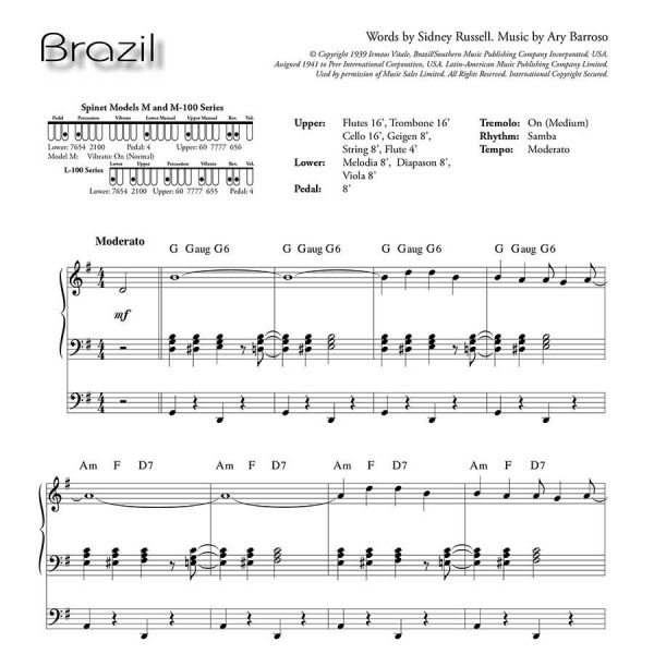 Ethel Smith - Contrasts (Music Book) - Brazil