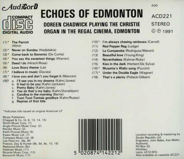 Doreen Chadwick - Echoes Of Edmonton (Inlay)