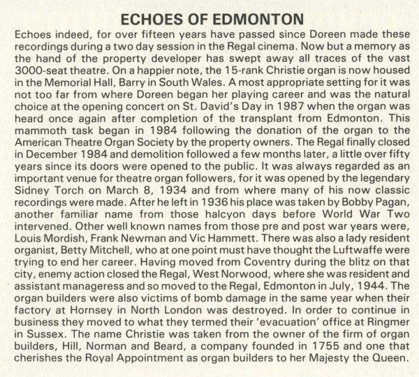 Doreen Chadwick - Echoes Of Edmonton (Info 1)