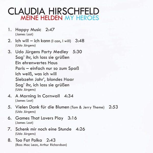 Claudia Hirschfeld - My Heroes / Meine Helden Tracks-1