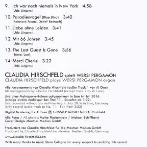 Claudia Hirschfeld – My Heroes / Meine Helden Tracks-2
