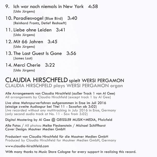 Claudia Hirschfeld - My Heroes / Meine Helden Tracks-2