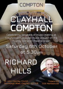 Clayhall Compton Concert with Richard Hills 2018