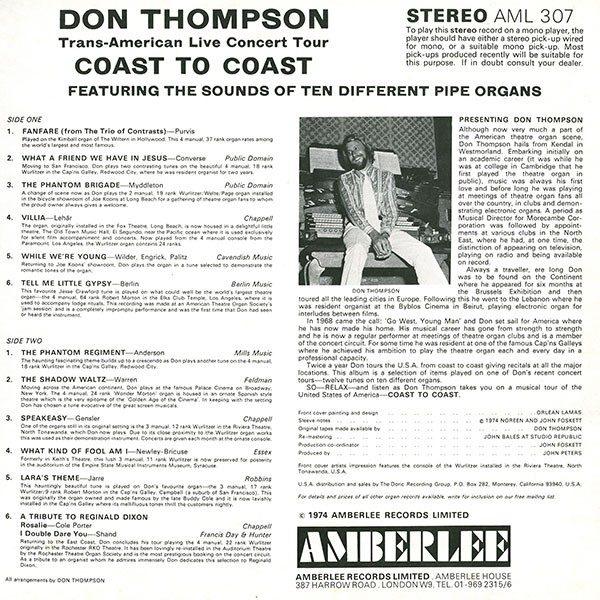 Don Thompson - Coast To Coast