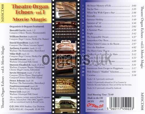 Theatre Organ Echoes 1 - Movies