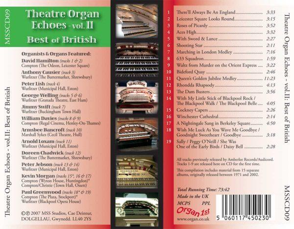 Theatre Organ Echoes 2 - Best of British (Inlay)
