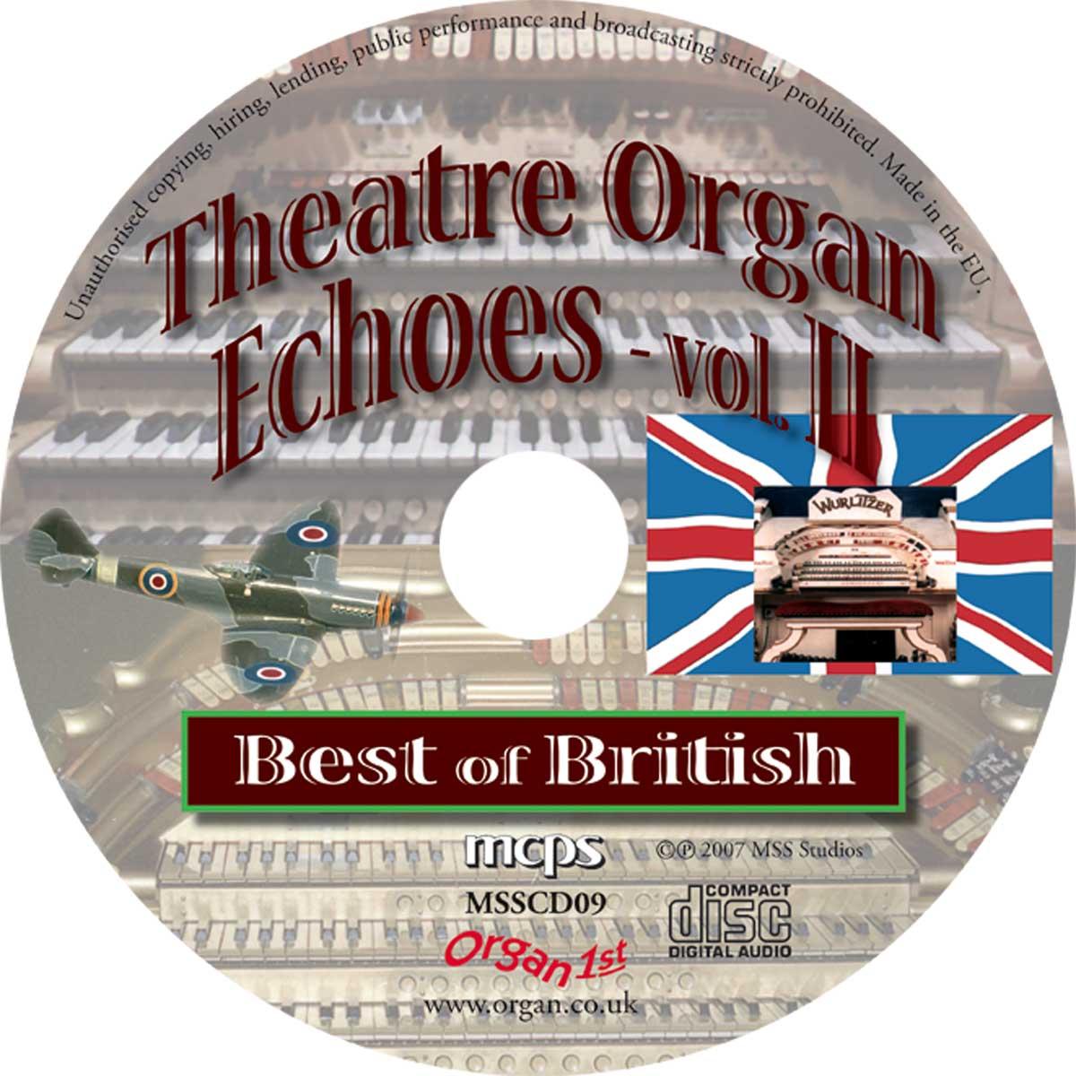 Theatre Organ Echoes 2 - Best of British (Disc)