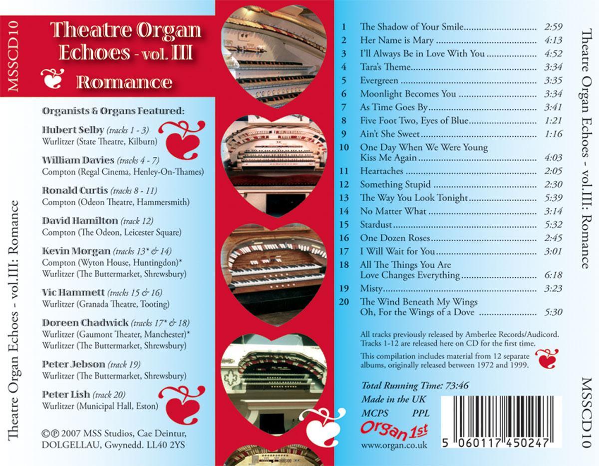 Theatre Organ Echoes 3 - Romance (Inlay)