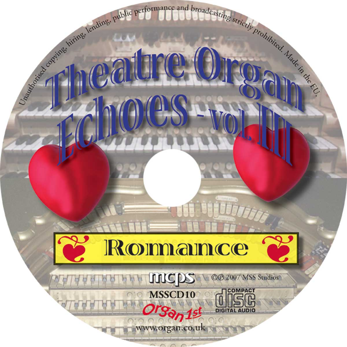 Theatre Organ Echoes 3 - Romance (Disc)