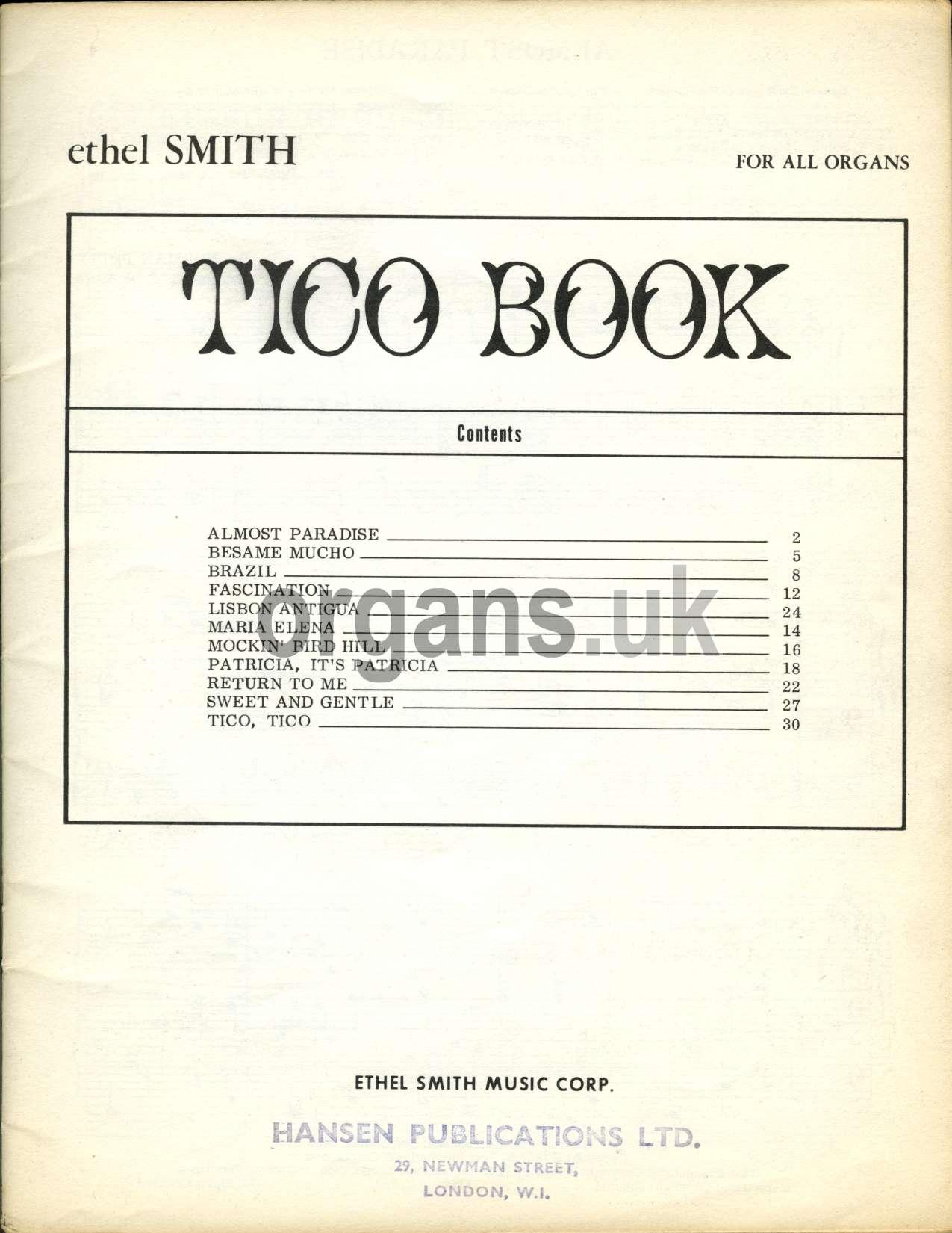 Ethel Smith - Tico Book
