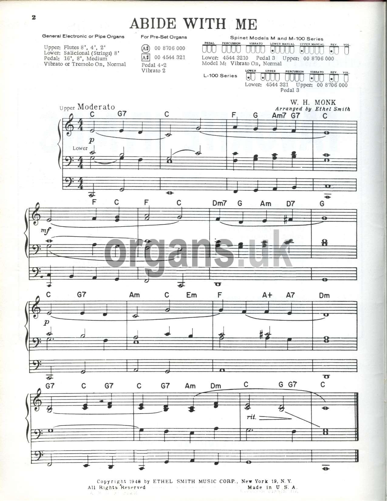 Ethel Smith - Favourite Hymns Book