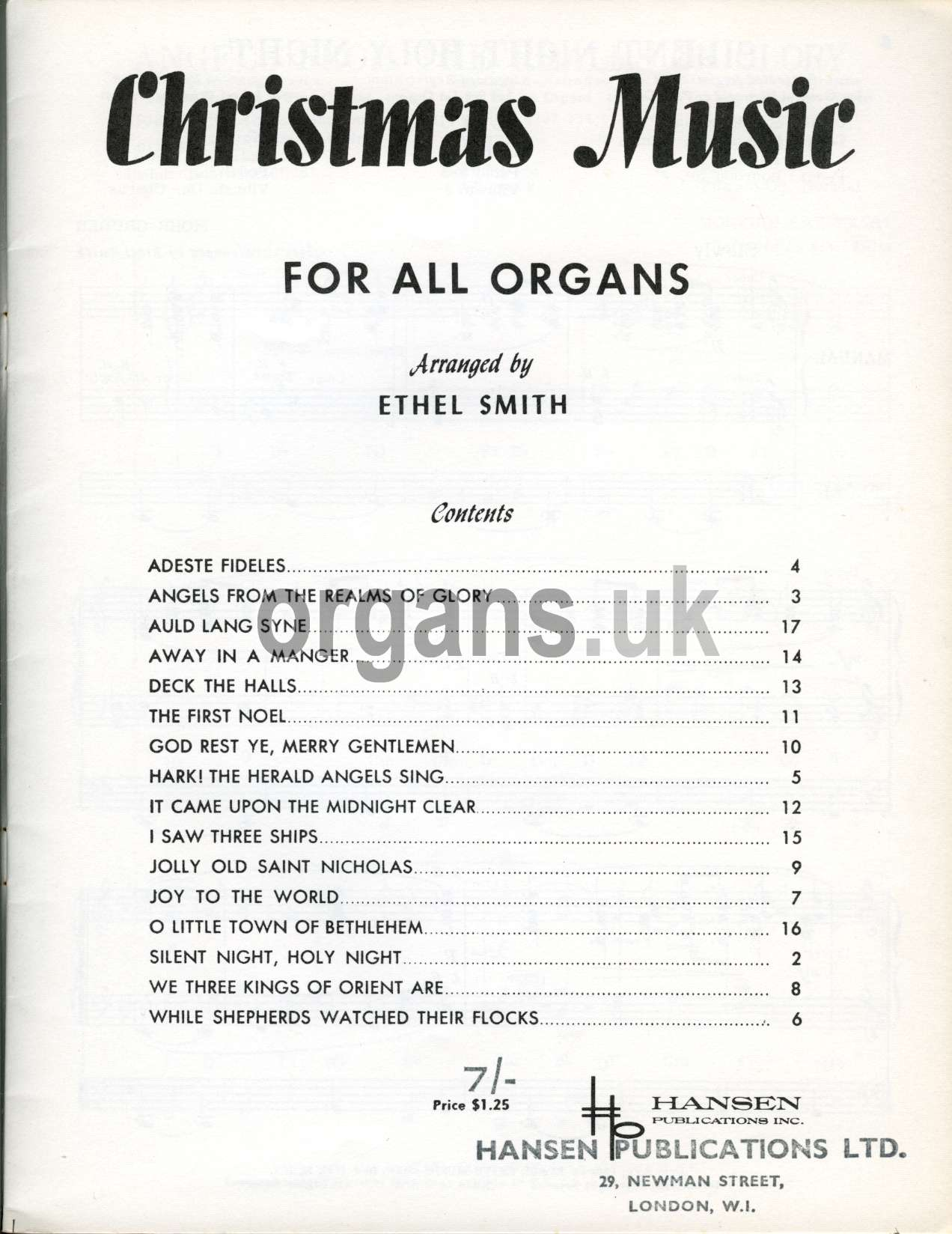 Ethel Smith's Christmas Music Book
