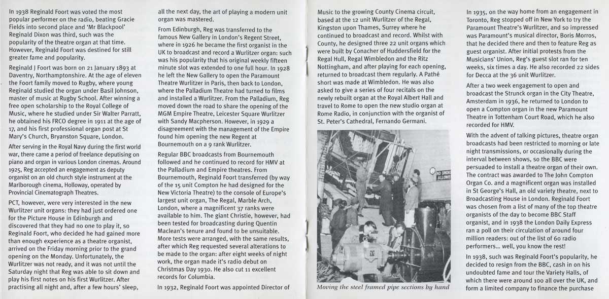 Reginald Foort - Plays the Moller Theatre Pipe Organ (Booklet 1)