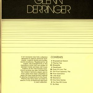 Glenn Derringer - Volume One Book
