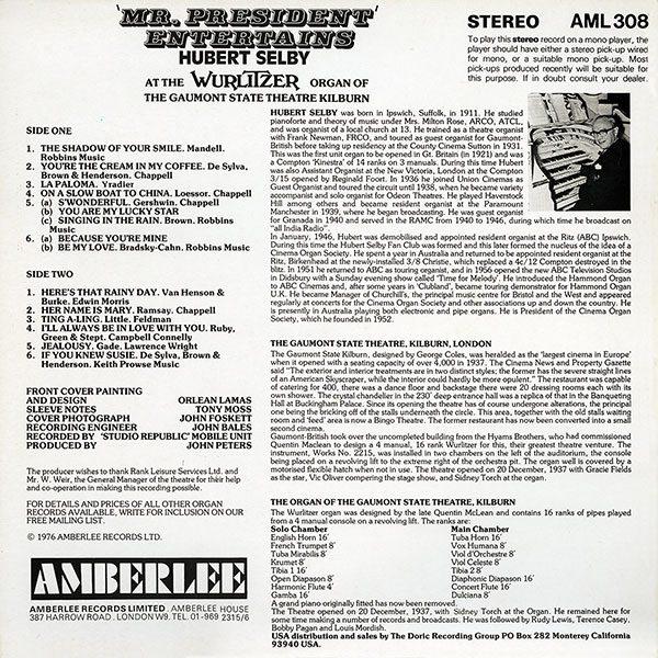 Hubert Selby - Mr President Entertains (2019 Remastered with Bonus Tracks)