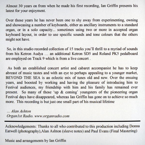 Ian Griffin - Beyond The Sea (Info)