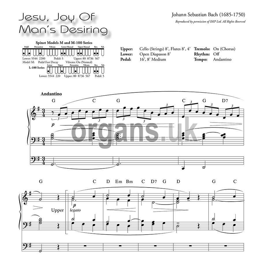 Ethel Smith - Contrasts (Music Book) - Jesu Joy