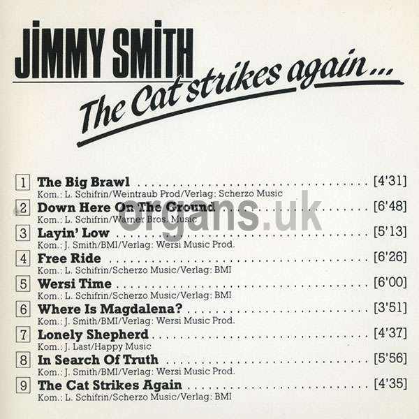 Jimmy Smith – The Cat Strikes Again