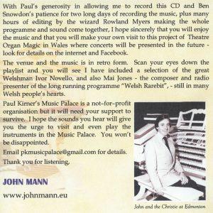 John Mann – Theatre Organ Magic