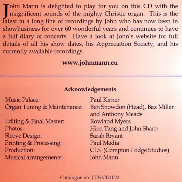 John Mann - Theatre Organ Magic