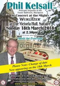 Phil Kelsall at Saltaire - Change of Date!