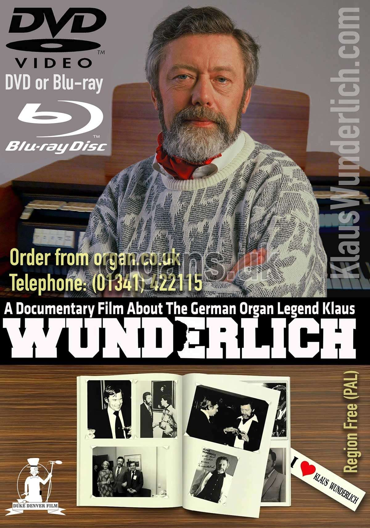Klaus Wunderlich Documentary DVD & Blu-ray 1200