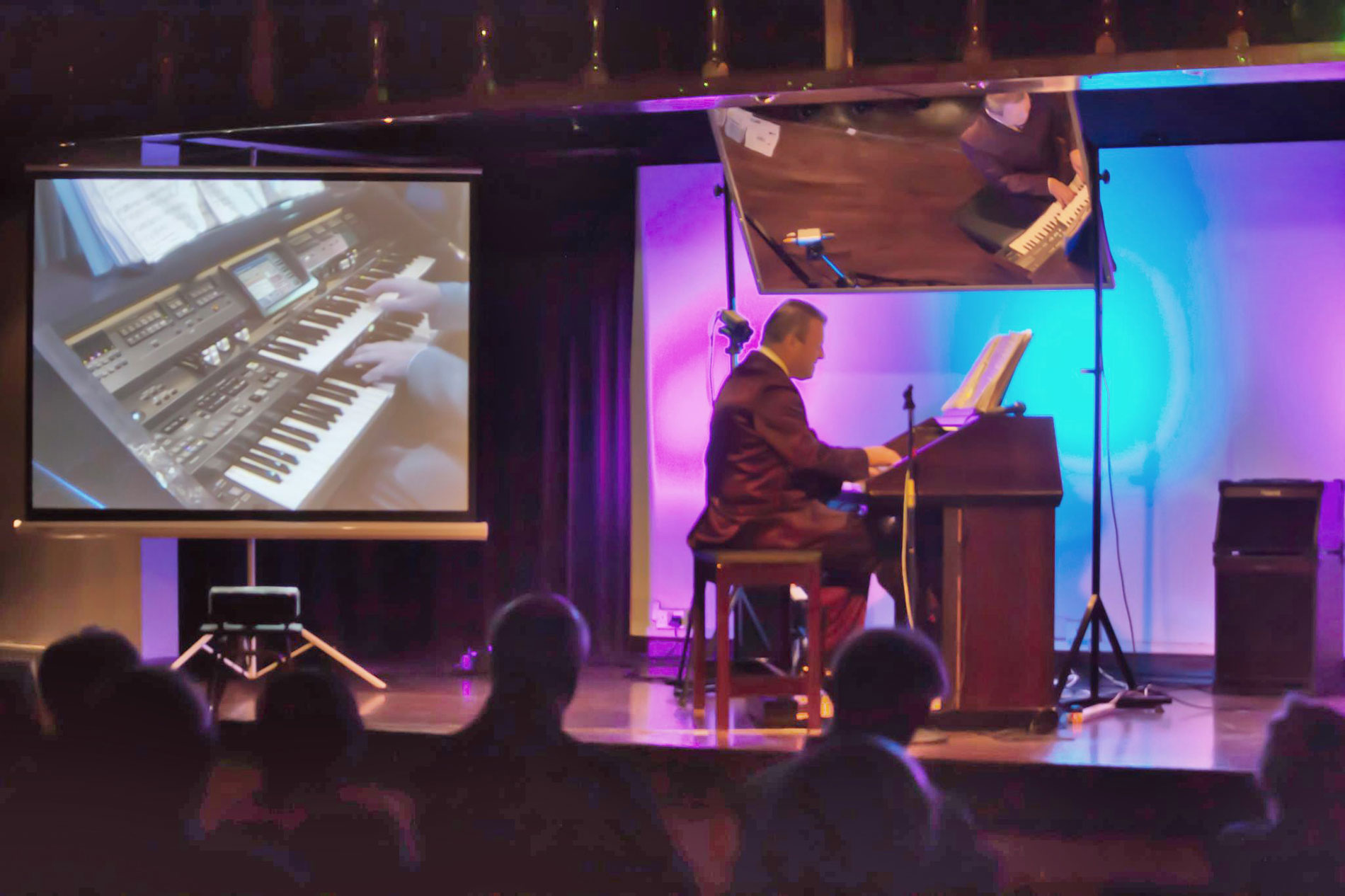 Andrew Nix at the Nene Valley Organ Club