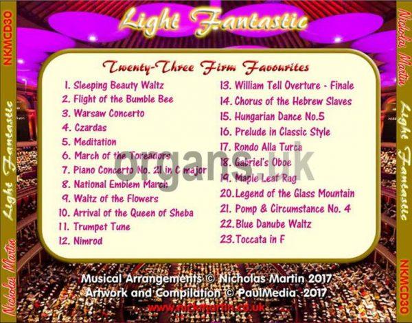 Nicholas Martin - Light Fantastic (Back)