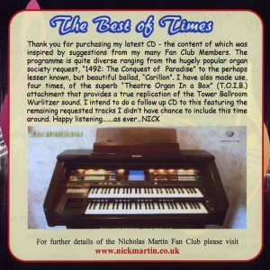 Nicholas Martin - The Best Of Times (Inlay)