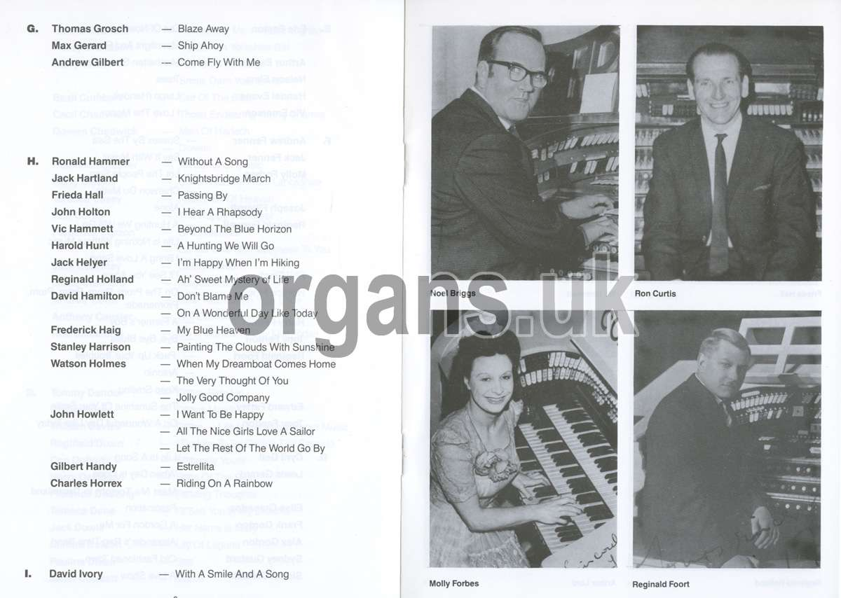 Organists Signature Tunes (1986 Booklet)