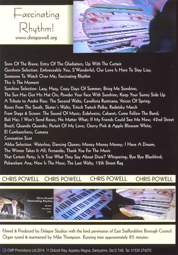 Chris Powell - Fascinating Rhythm DVD (Back)