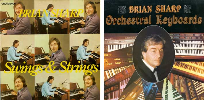 Two of Brian Sharp's LPs