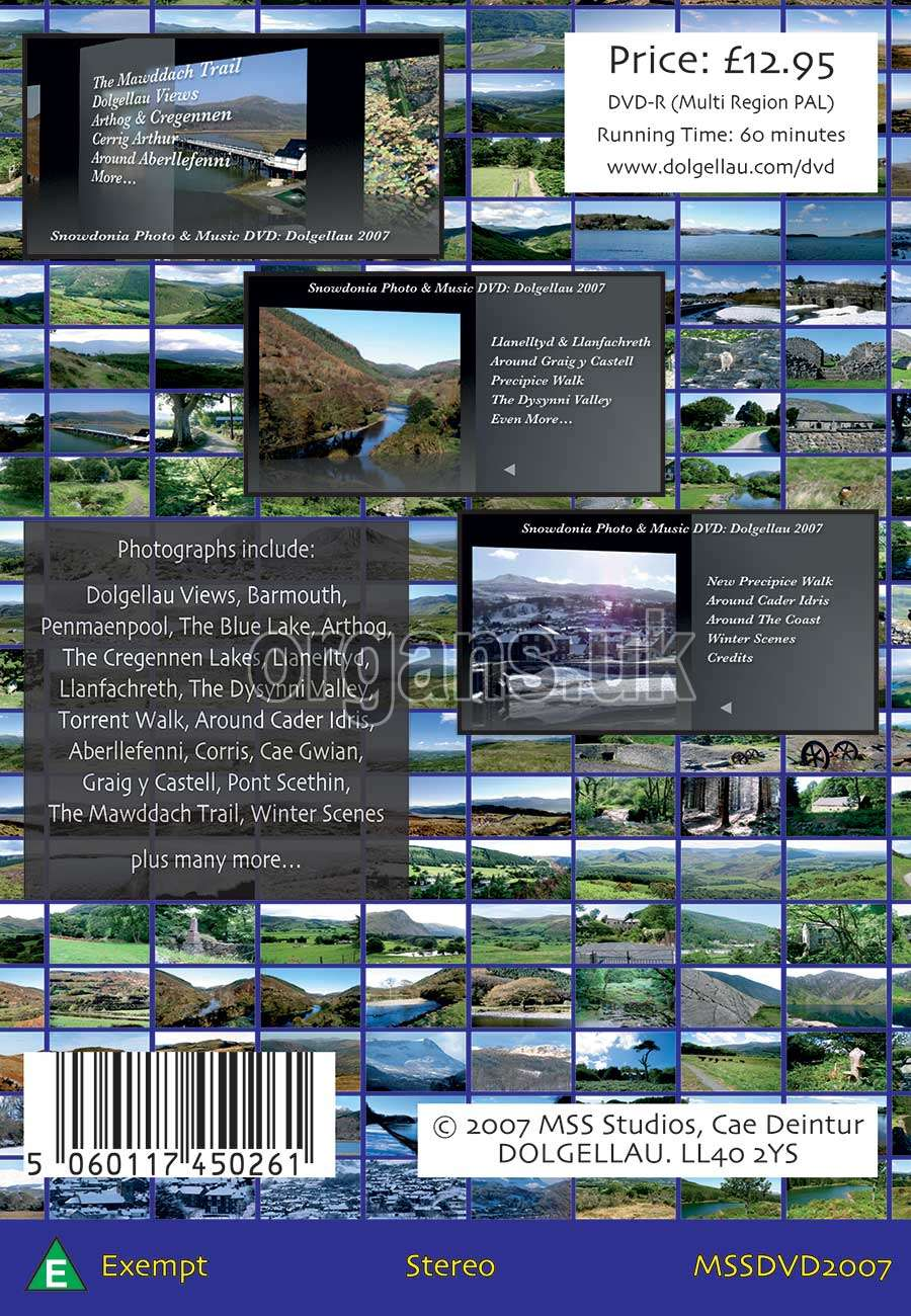 The Snowdonia Photo & Music DVD (Back)