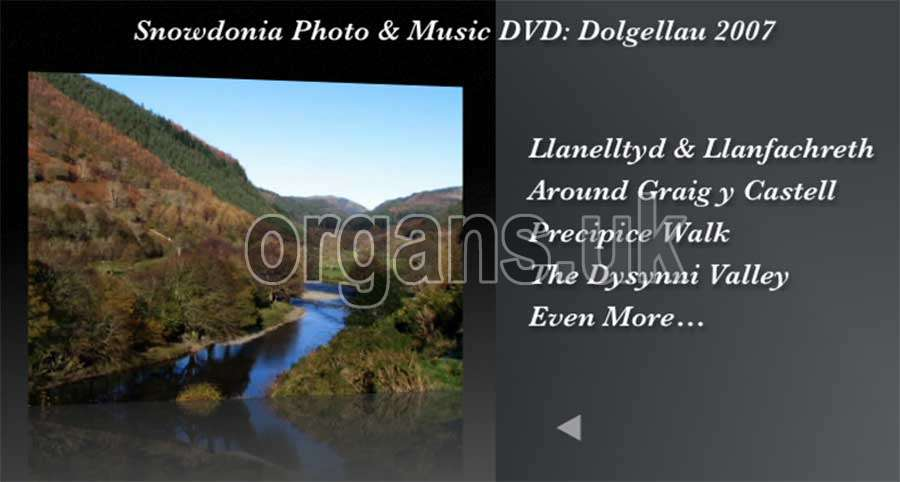 The Snowdonia Photo & Music DVD - Menu 2