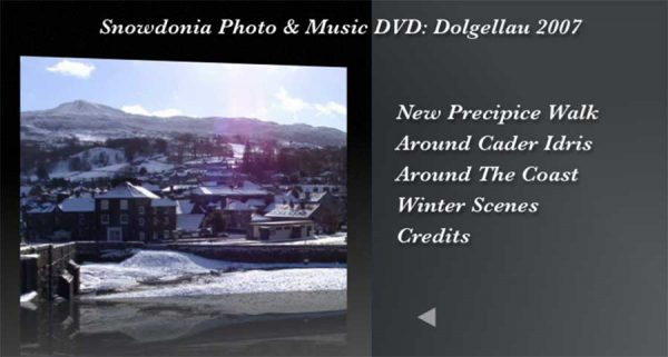 The Snowdonia Photo & Music DVD - Menu 3