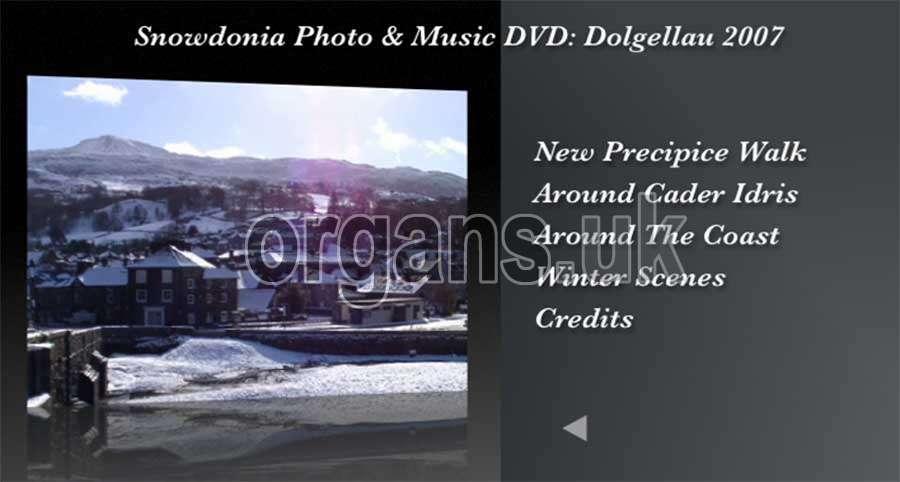 The Snowdonia Photo & Music DVD - Menu 3
