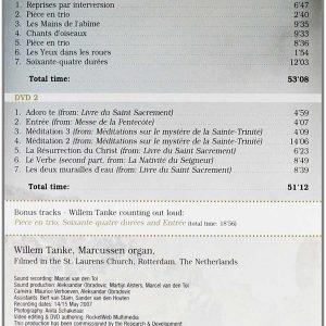 Willem Tanke - Olivier Messiaen (2 DVDs)