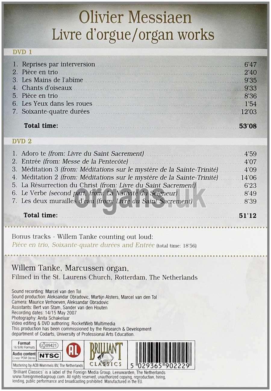 Willem Tanke - Olivier Messiaen (2 DVDs)