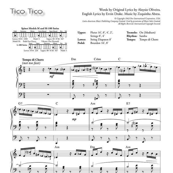 Ethel Smith - Contrasts (Music Book) - Tico Tico