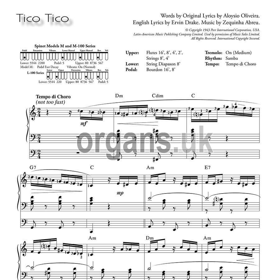 Ethel Smith - Contrasts (Music Book) - Tico Tico
