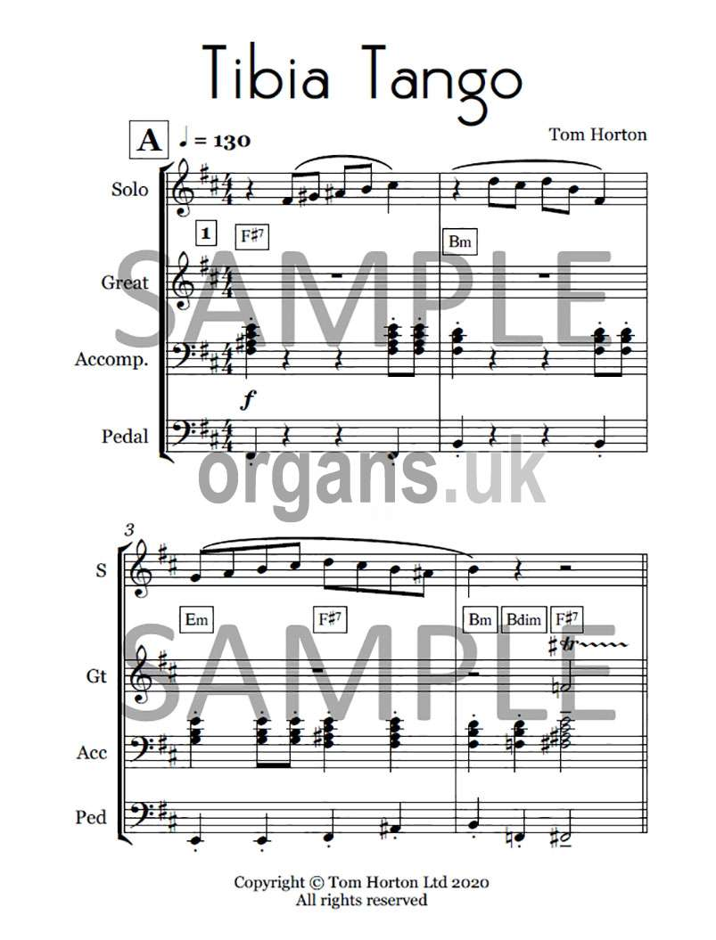 Tom Horton - Theatre Organ Originals - Volume One (Book)