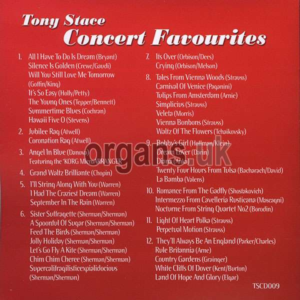 Tony Stace - Concert Favourites