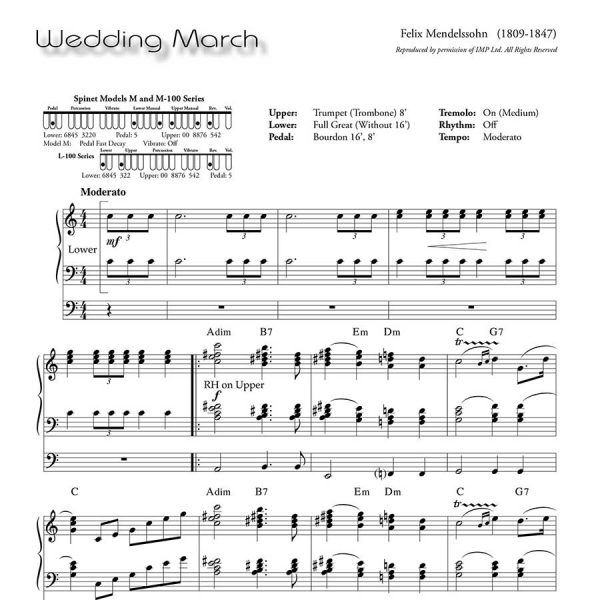 Ethel Smith - Contrasts (Music Book) - Wedding March